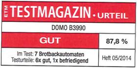 testmagazin hodnocení - DOMO B3990