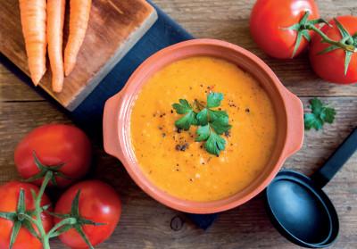 Rajčatovo-mrkvová polévka