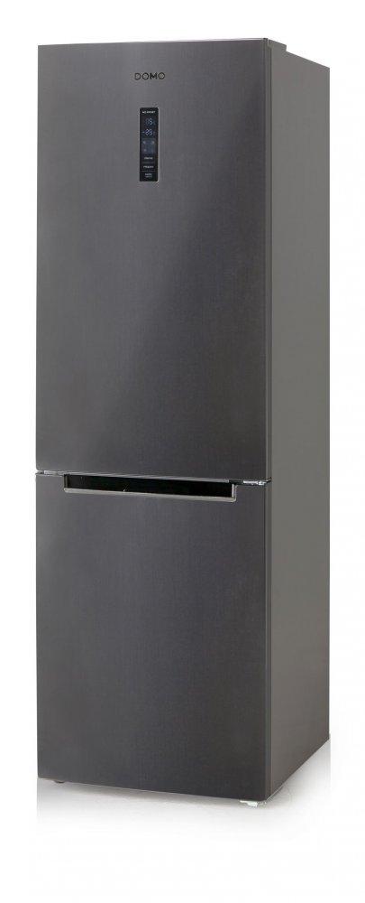 Lednice kombinovaná s mrazákem - šedá - DOMO DO986BFK