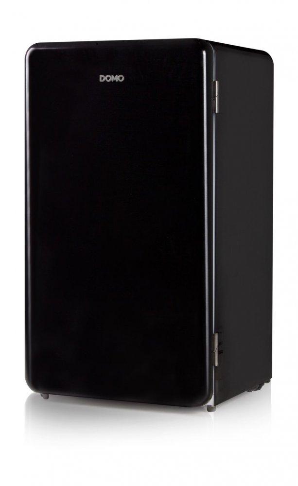 Retro lednice s mrazící přihrádkou - černá - DOMO DO988RKZ