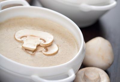 Krémová-žampionová polévka