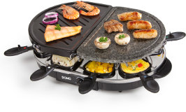 Raclette gril z přírodního kamene a plechu DOMO DO9059G - pro 8 lidí