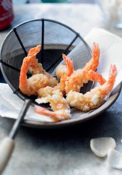 Smažené krevety - scampi